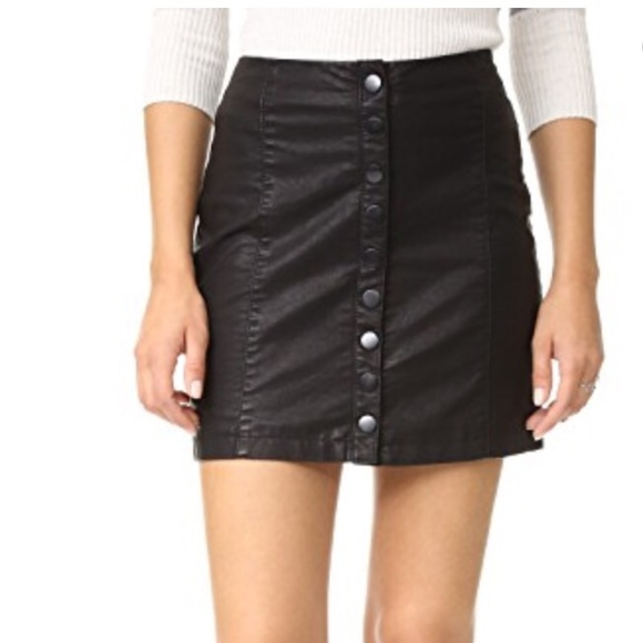 21034d04a Free People Dresses & Skirts - Free People Oh Snap Vegan Leather Miniskirt